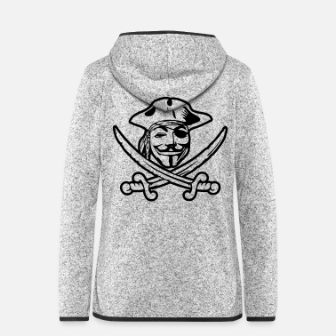 Anonymous ANONYMOUS - Frauen Fleece Kapuzenjacke