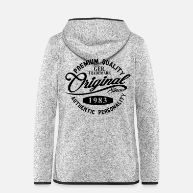 Original Since 1983 Handwriting Premium Quality - Women's Hooded Fleece Jacket
