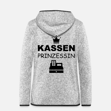 Laden Kassenprinzessin im Laden - Frauen Fleece Kapuzenjacke
