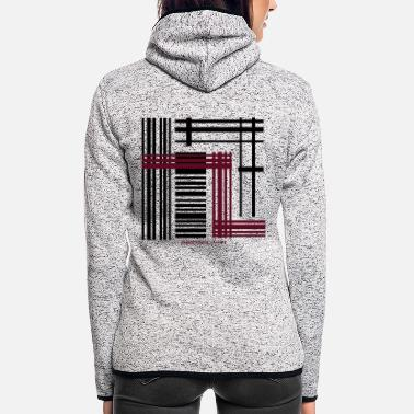 Abstract Abstraction - Women's Hooded Fleece Jacket