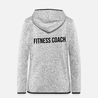 Fitness fitness coach blue and black - Frauen Fleece Kapuzenjacke