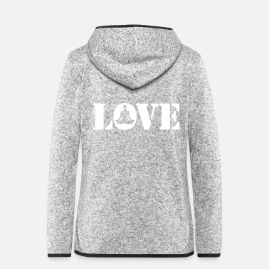 Workout Yoga love - Frauen Fleece Kapuzenjacke