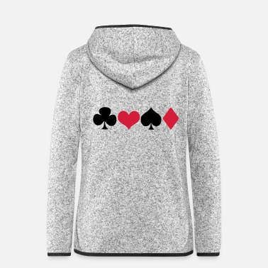 Pik Kreuz-Herz-Pik-Karo - Poker - Skat - Karten - Women's Hooded Fleece Jacket