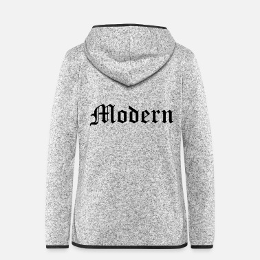 Mode Modern - Frauen Fleece Kapuzenjacke