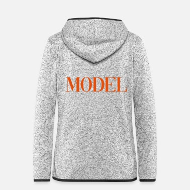 Model Topmodel MODEL - Frauen Fleece Kapuzenjacke