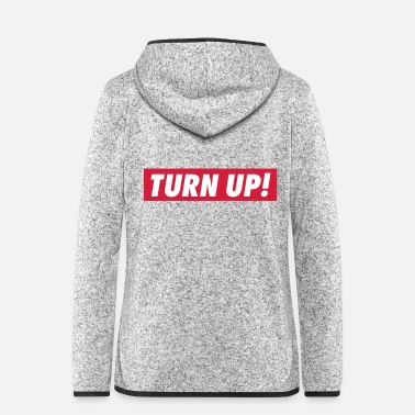 Up Turn up - Frauen Fleece Kapuzenjacke