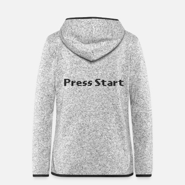 Start press start gaming informatica - Giacca di pile con cappuccio donna