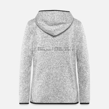 coding people outlines - Frauen Fleece Kapuzenjacke