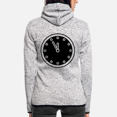 Clock clock - Frauen Fleece Kapuzenjacke