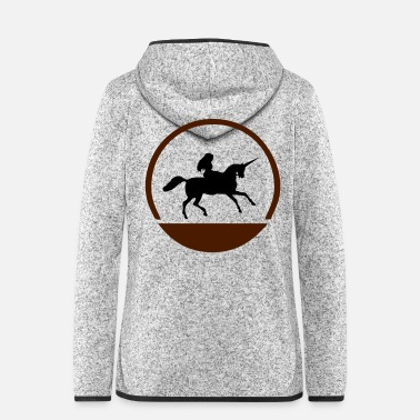 Gallop unicorn symbol - Women's Hooded Fleece Jacket