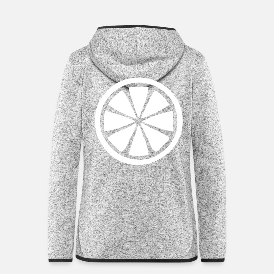 Lemon-slice Jackets & Vests - Lemon lime fruit fruit sour slice - Women's Hooded Fleece Jacket light heather grey