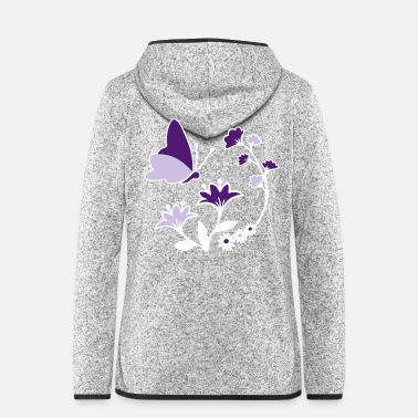 Decoration Butterfly and flowers decor Decorative motif - Women's Hooded Fleece Jacket