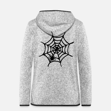 Web spider on the web - Women's Hooded Fleece Jacket