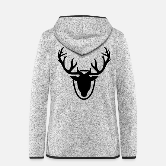 Stag Jackets - Antlers Trophy - Women's Hooded Fleece Jacket light heather grey