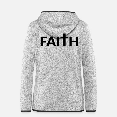 Christian Faith Cross Design - Women's Hooded Fleece Jacket