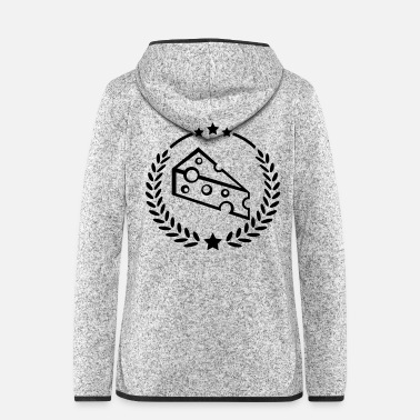 Mouse cheese_design_fe1 - Women's Hooded Fleece Jacket