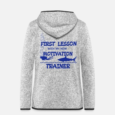 Lessons First Lesson - Motivation Trainer - Women's Hooded Fleece Jacket