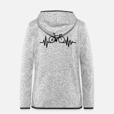 Bmx Heart beat bike - Women's Hooded Fleece Jacket