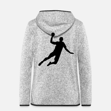 Jump Shot Handballer - Women's Hooded Fleece Jacket