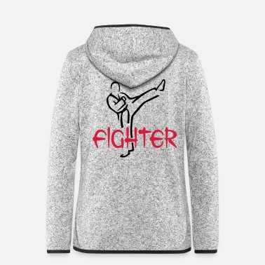 Graphic Art Martial Arts Fighter - Vrouwen fleece jack