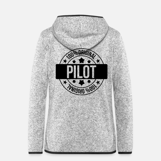 Flight Jackets - Pilot - Women's Hooded Fleece Jacket light heather grey