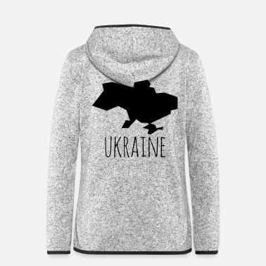 Abstraction Ukraine - Veste à capuche polaire Femme