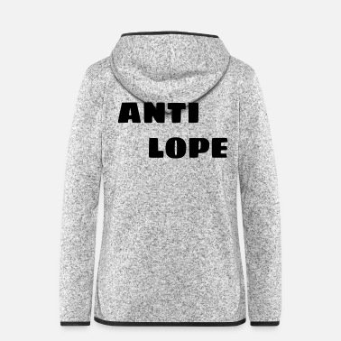 Gift Antilope 005 - Frauen Fleece Kapuzenjacke