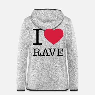 Neunziger I LOVE RAVE - Frauen Fleece Kapuzenjacke