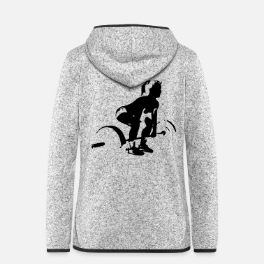 Lifting Lifting girl - Women's Hooded Fleece Jacket