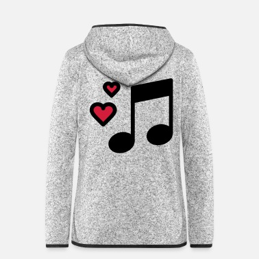 Music Romantic music note - Women's Hooded Fleece Jacket