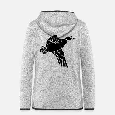 Wingshooter duck_shape - Women's Hooded Fleece Jacket