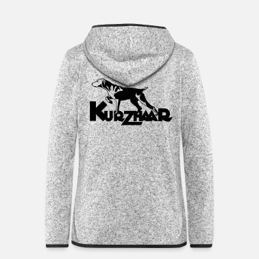 Wingshooter kurzhaar_one_color - Women's Hooded Fleece Jacket