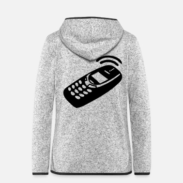 Mobile Mobile Phone - Women's Hooded Fleece Jacket