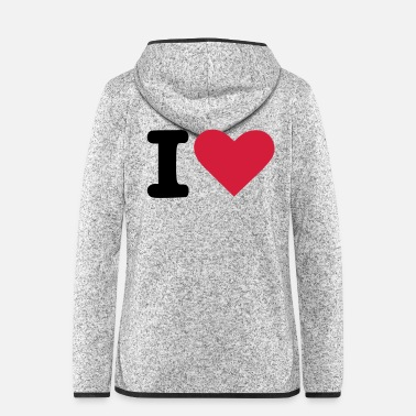 I Heart i-heart - Frauen Fleece Kapuzenjacke
