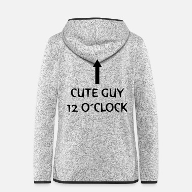 Clock cute guy 12 o clock - Fleeceluvjacka dam
