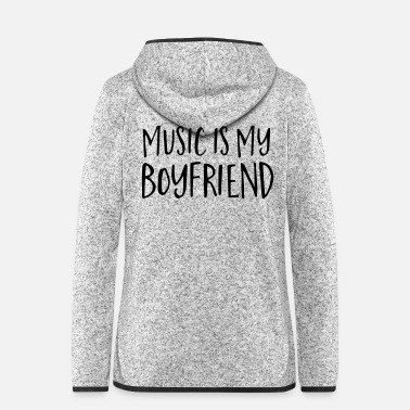 Instrument Music Is My Boyfriend - Hætte-fleecejakke dame