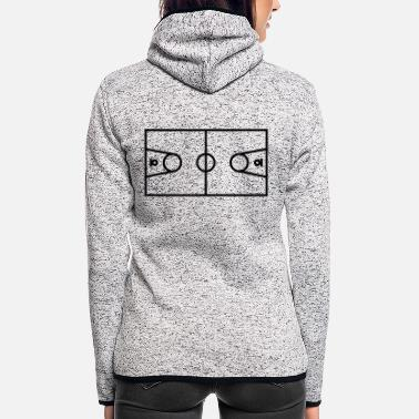 Court Basketball court - Women's Hooded Fleece Jacket