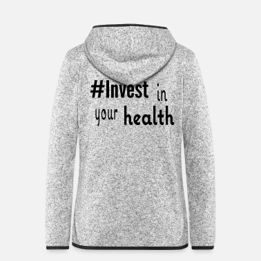 Health Shirt Health - Frauen Fleece Kapuzenjacke