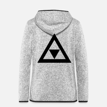 Triangle Triangle in the triangle - Women's Hooded Fleece Jacket
