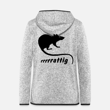Rodent Rat mouse rodent rodents horny wild - Women's Hooded Fleece Jacket