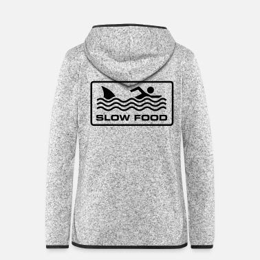 Slow Slow Food - Women's Hooded Fleece Jacket