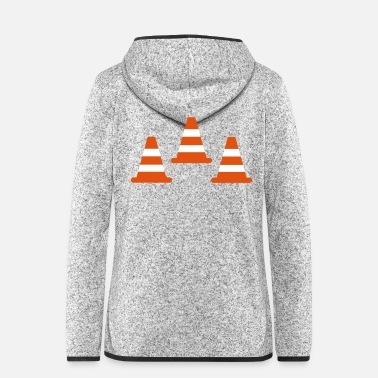 Traffic Traffic Cones - Women's Hooded Fleece Jacket