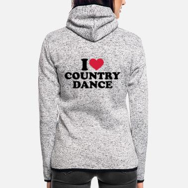 Country Country dance - Frauen Fleece Kapuzenjacke