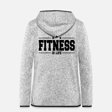 Workout fitness is life 1 - Frauen Fleece Kapuzenjacke
