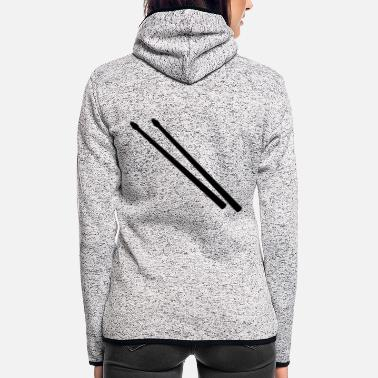 Stick Drum Sticks - Women's Hooded Fleece Jacket