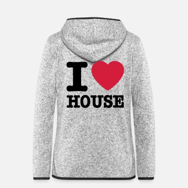 House I love house / I heart house - Hætte-fleecejakke dame