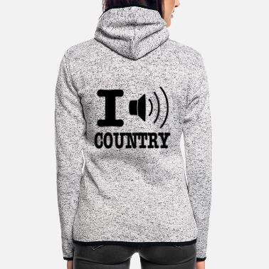 Country I music country / I love country - Hætte-fleecejakke dame