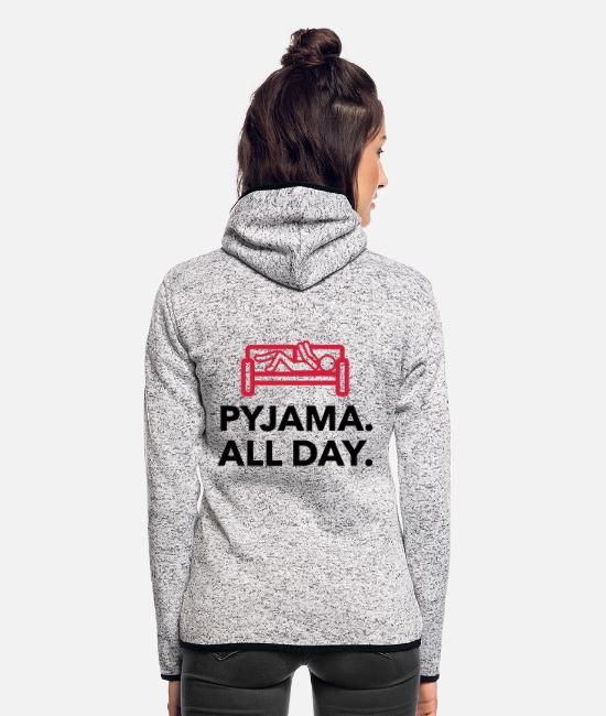 Bed Jackets - Throughout the day in your pajamas! - Women's Hooded Fleece Jacket light heather grey