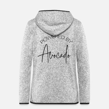 Healthy Powered By Avocado - Women's Hooded Fleece Jacket