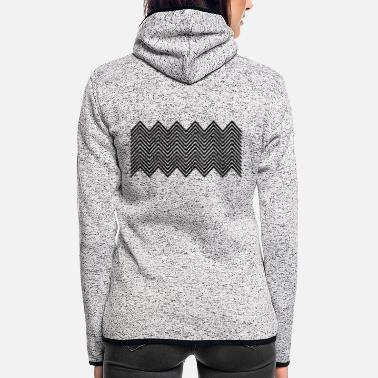 Pattern Zickzack muster - Women's Hooded Fleece Jacket